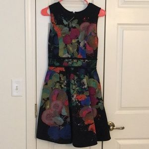 Cynthia Rowley Fruit and Flower Print Dress US4-6